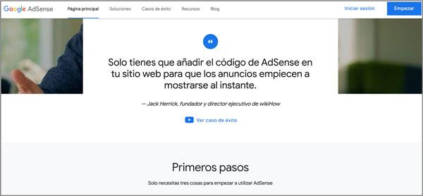 Ingresos pasivo Google Adsense