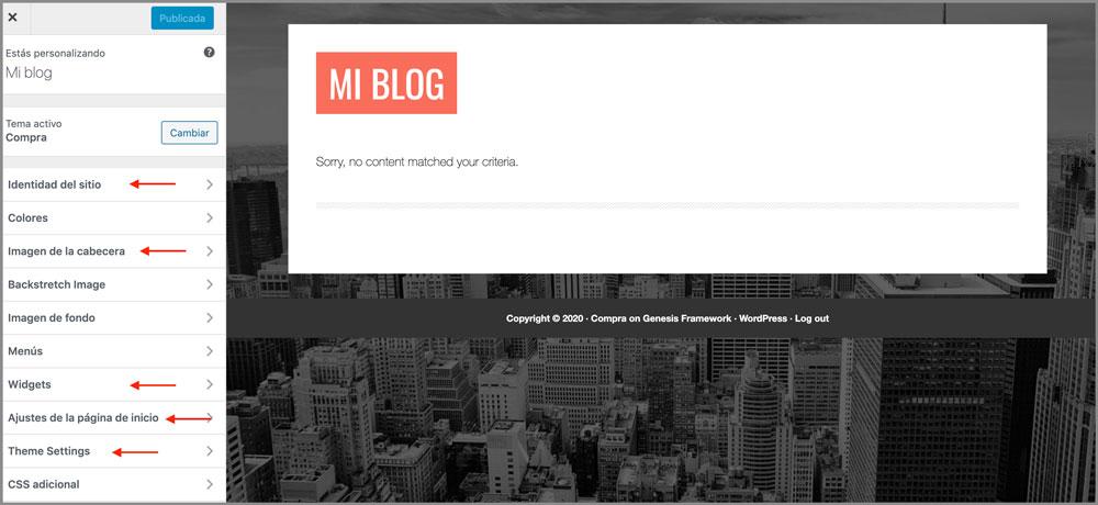 como crear un blog personalizar