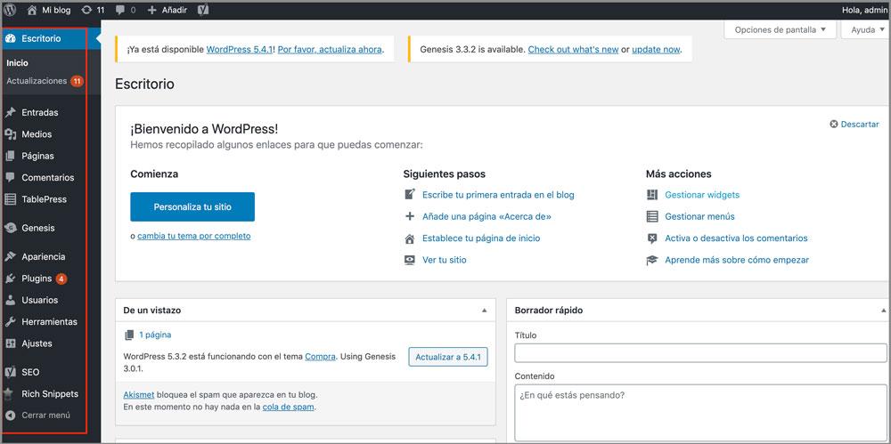 Configuraciones para crear tu blog